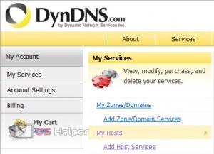 Создание хостов на DynDNS