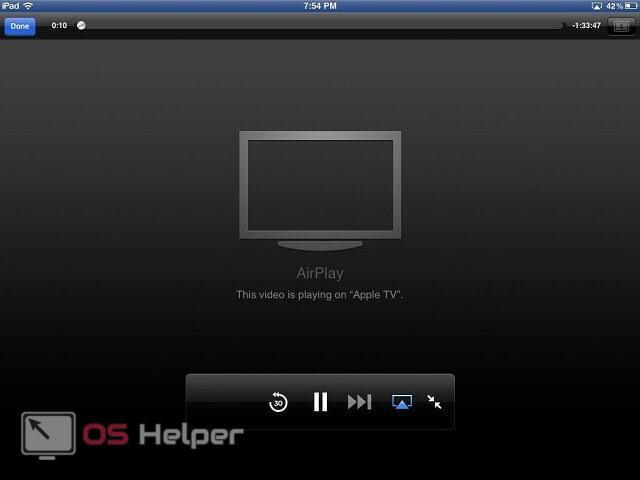 AirPlay на Apple TV