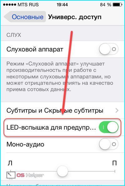 LED-вспышка для предупреждения