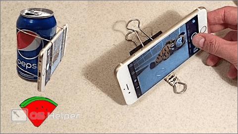 Облокоченный телефон