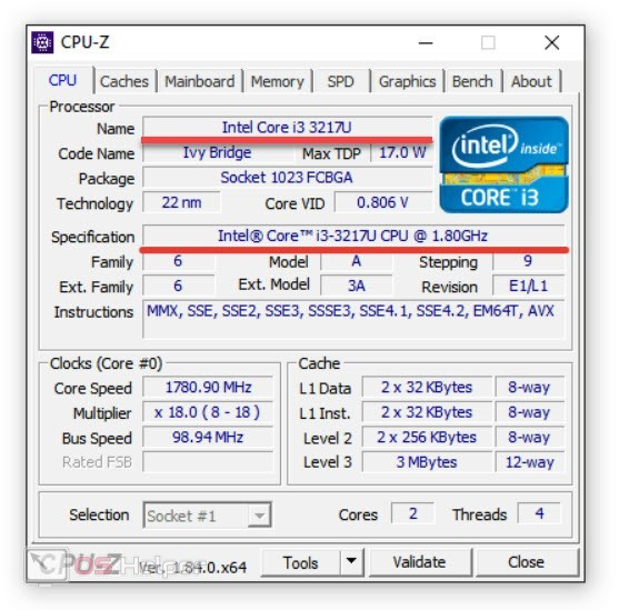 Утилиты CPU-Z и SetFSB