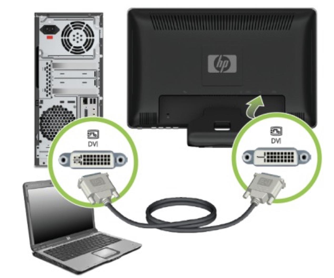 Подключение монитора компьютера