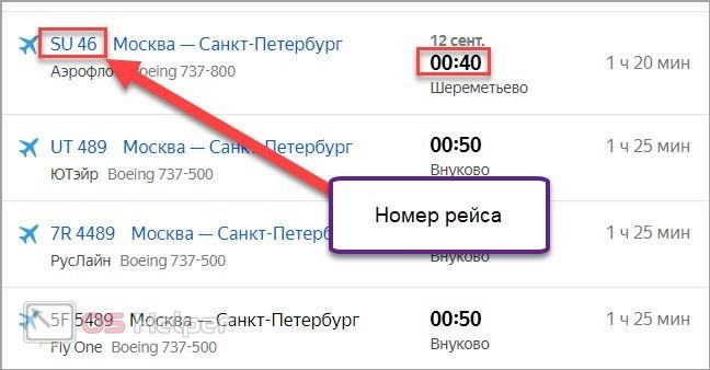 Расписание в Яндексе