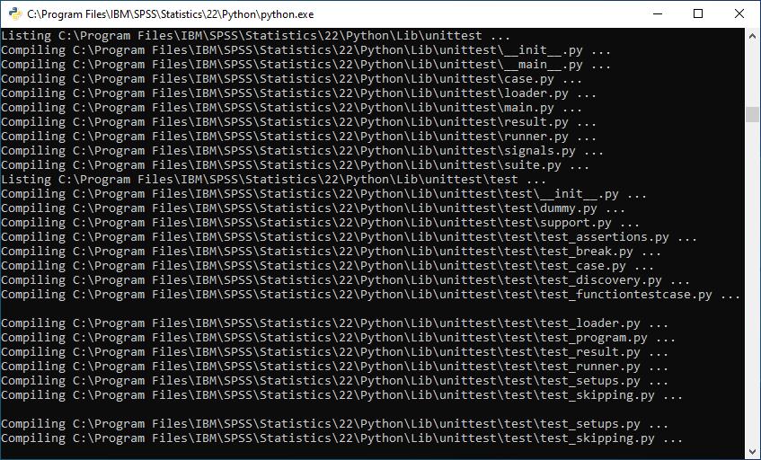 Установка Python при инсталляции IBM SPSS Statistics